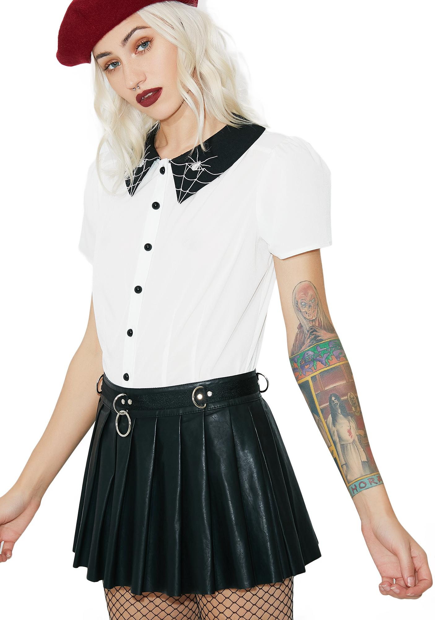 Hell Bunny Miss Muffet Blouse