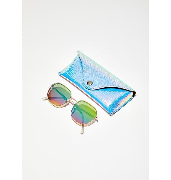 Skinnydip Lexi Iridescent Sunglasses