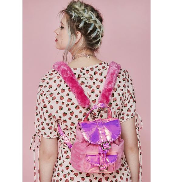 Sugar Thrillz Cute Lil Velour Backpack