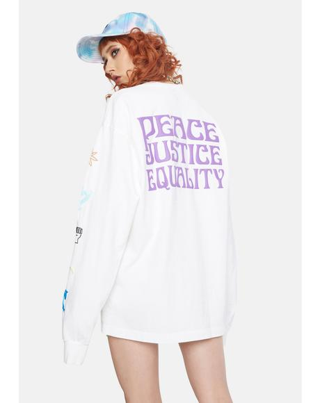 Peace Justice Equality Graphic Tee