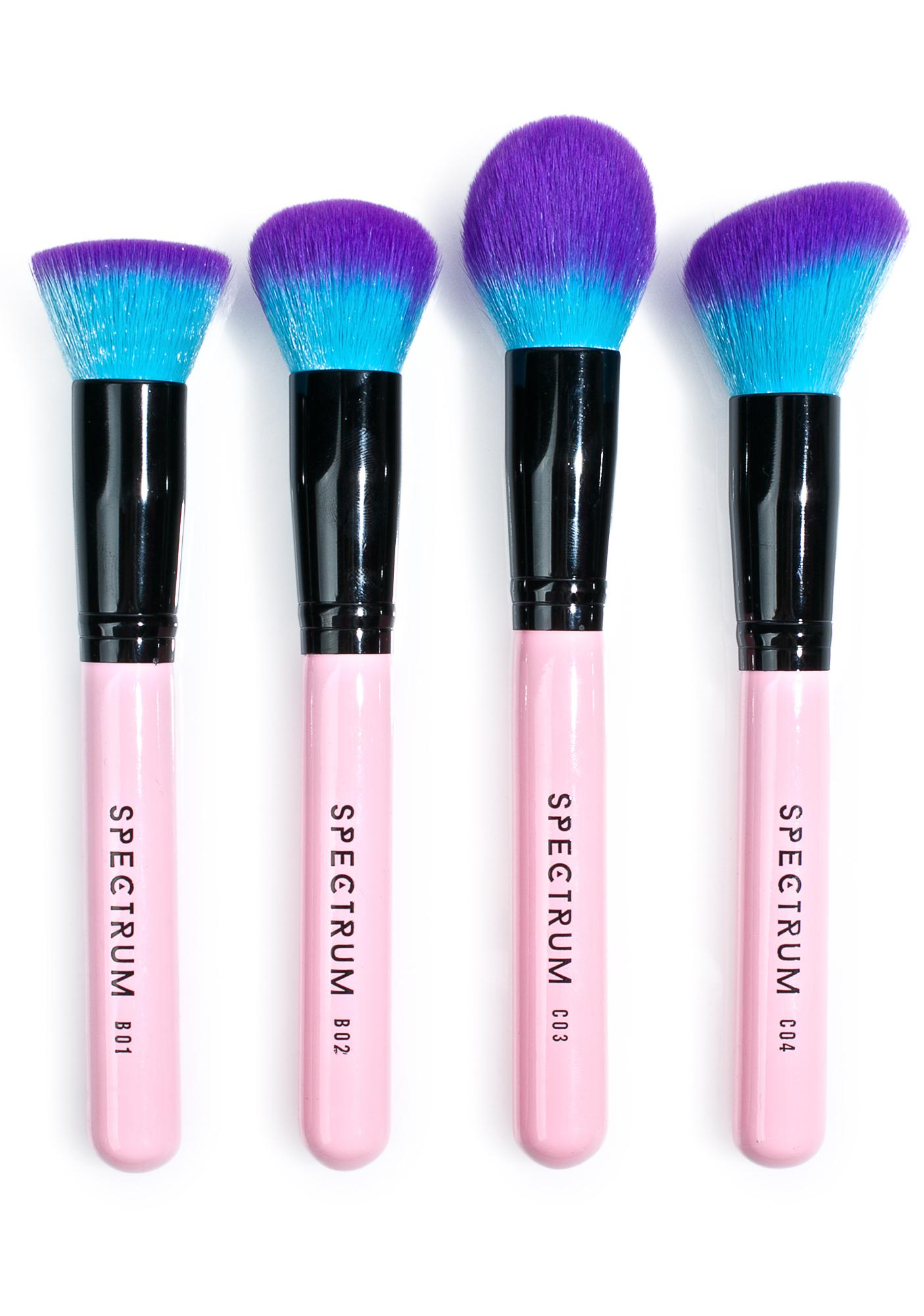 Spectrum Collections 4 Piece Contour Face Brush Set