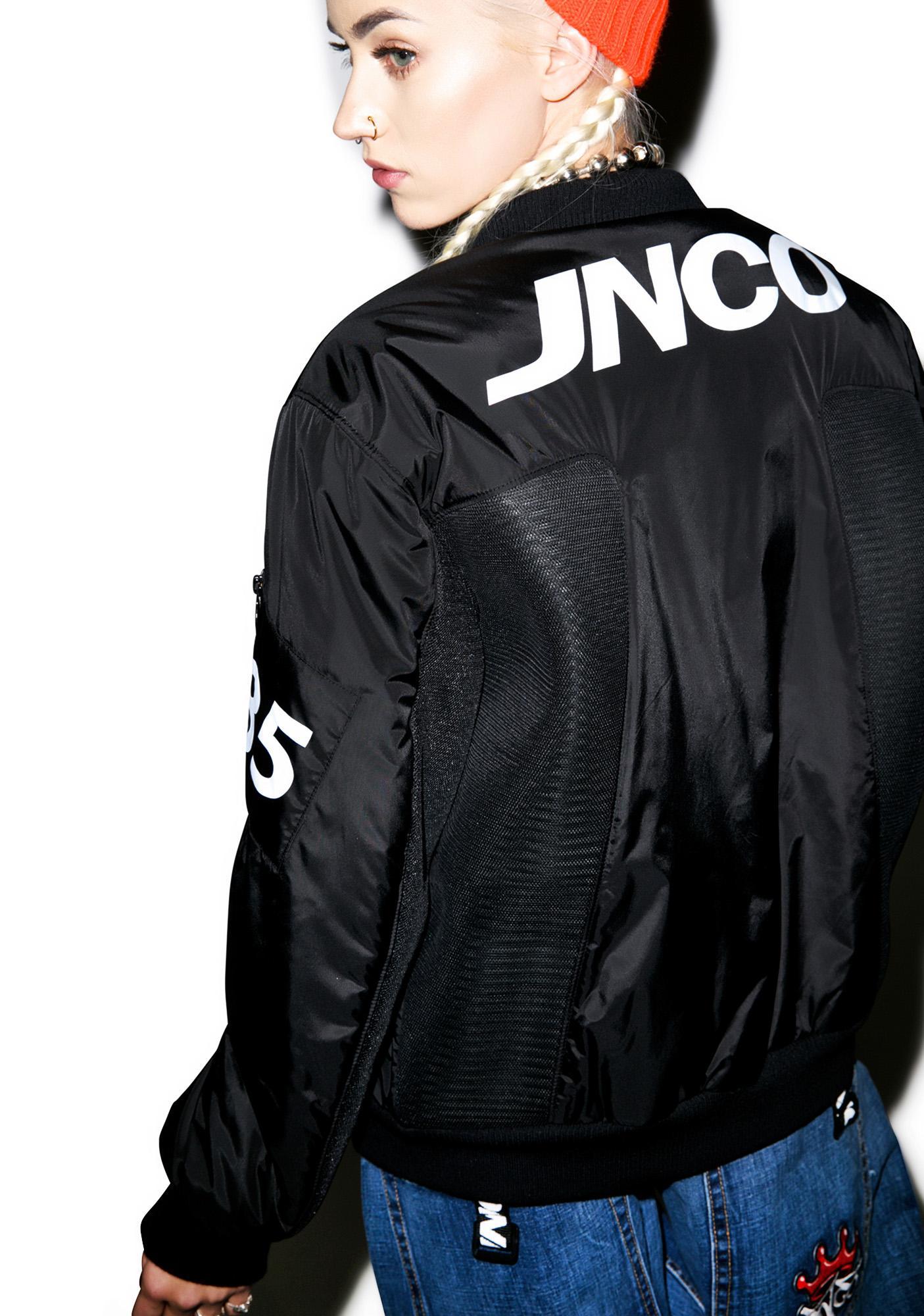 JNCO Phantom MA-1 Logo Bomber Jacket