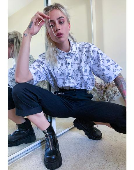 Ghouls Vacation Button Up Shirt