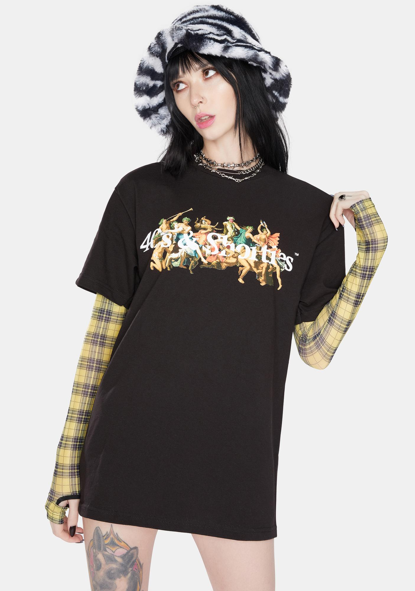 40s & Shorties Black Temptation Graphic Tee