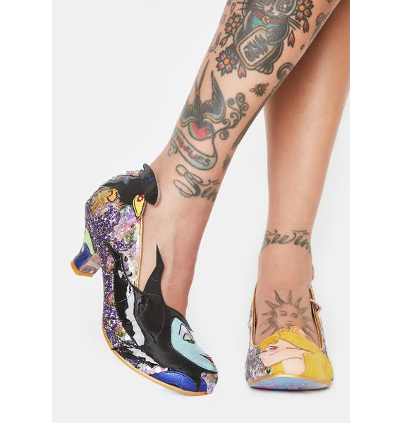 Irregular Choice Touch The Spindle Glitter Heels