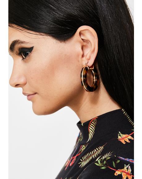 Werk It Out Hoop Earrings