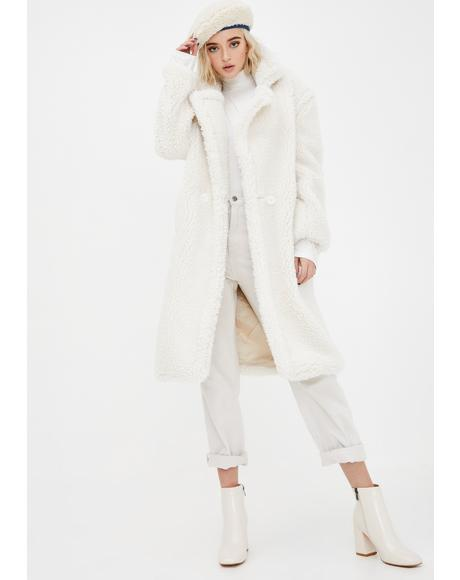 White Naomi Long Coat