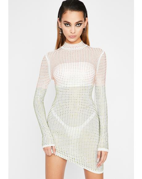 Prize Worthy Rhinestone Dress