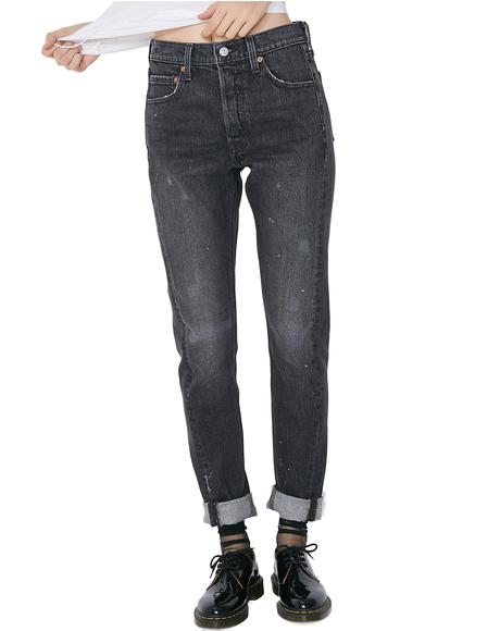 501 Skinny Altered Jeans