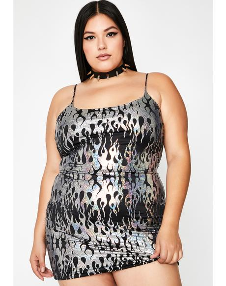 Chrome So Hot Like Me Cami Dress