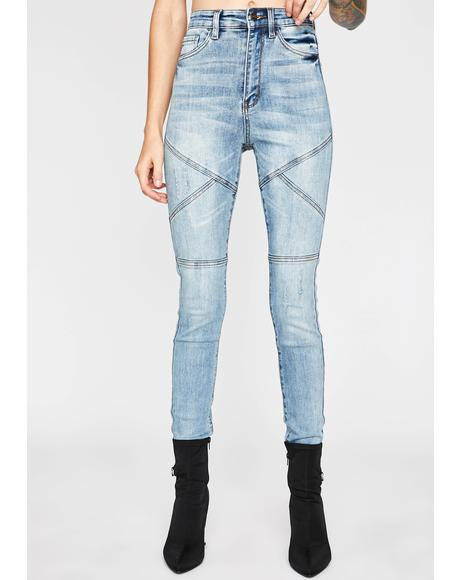 No Yielding Moto Jeans