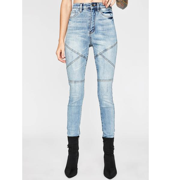 No Yielding Moto Jeans
