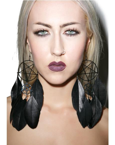 Nocturnal Dreamcatcher Earrings
