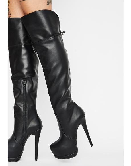 Free Form Smooth Platform Stiletto Boots