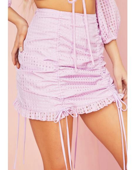 Made U Blush Gingham Skirt