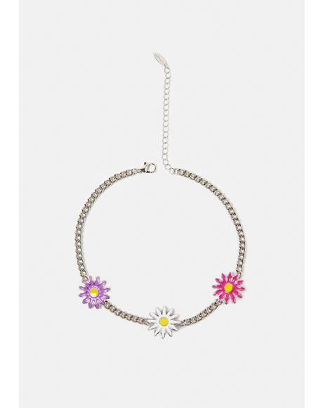 Slowly Blooming Flower Chain Necklace