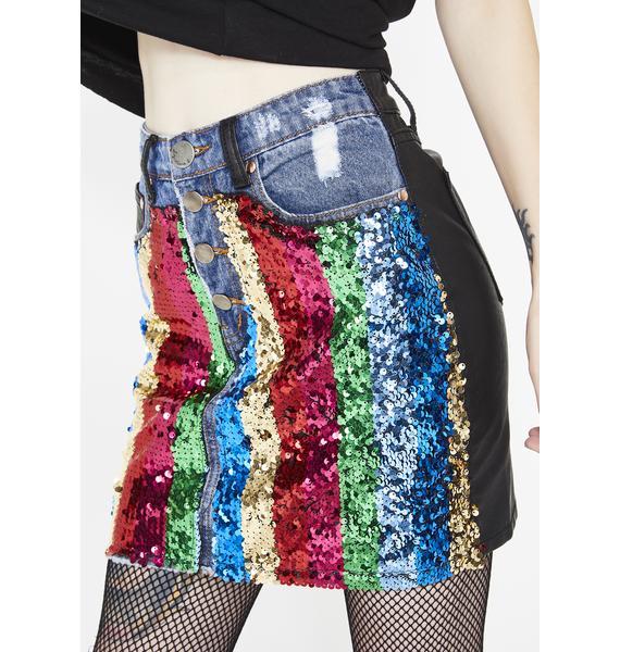 Bling It On Mini Skirt