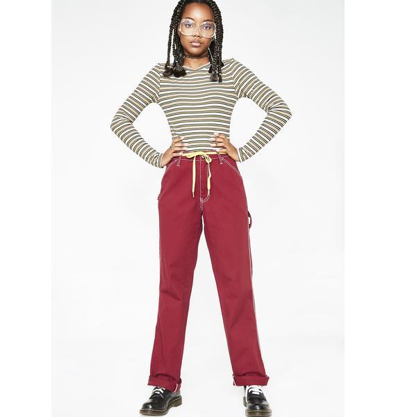 Dickies Girl Mulberry Carpenter Pants