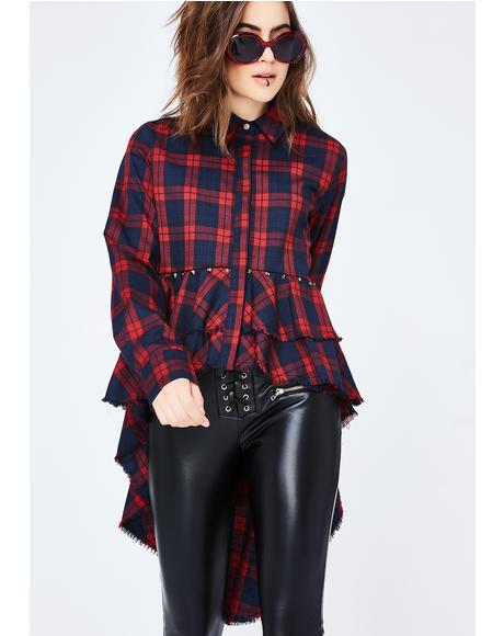 Highs N' Lows Plaid Top
