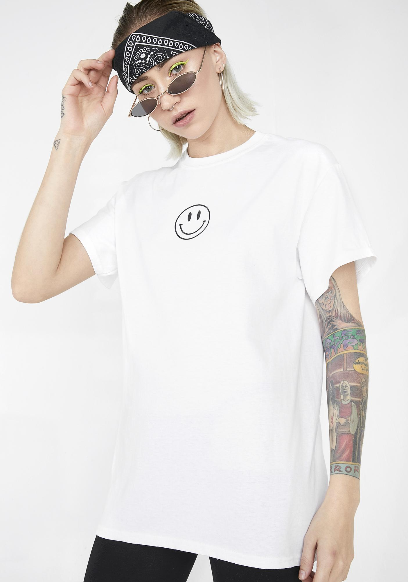 Illustrated People Everything Will Be Ok Smiley Tee
