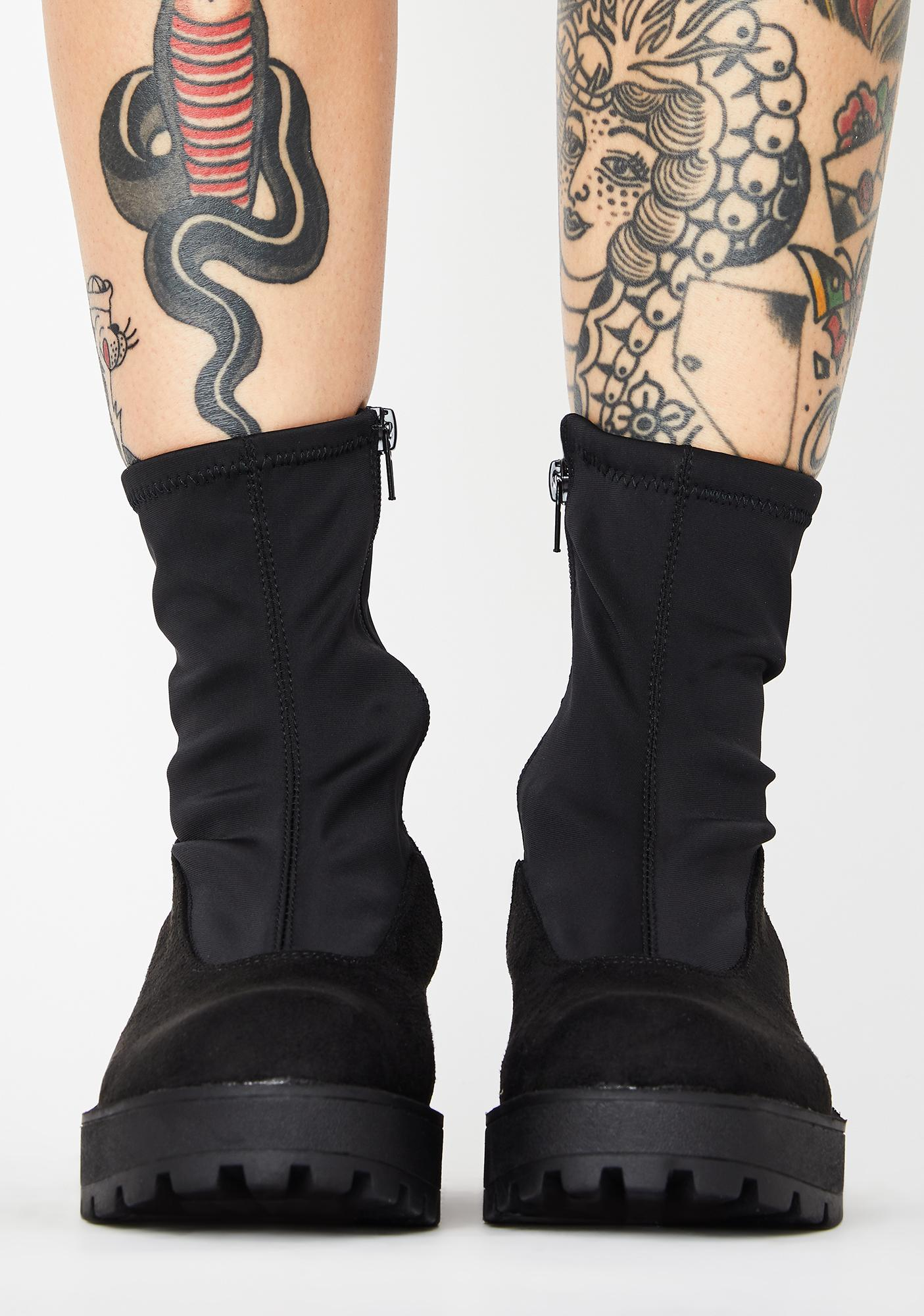 Lust For Life Pace Platform Sock Boots