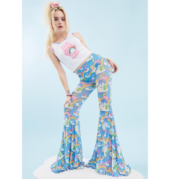Dolls Kill x Care Bears Sharing Is Caring Flare Pants