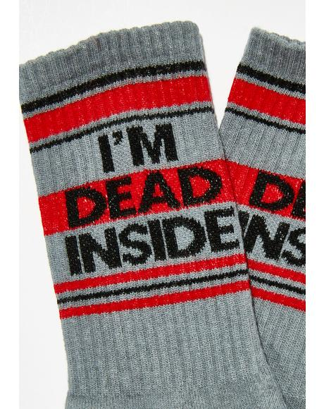 I'm Dead Inside Gym Crew Socks