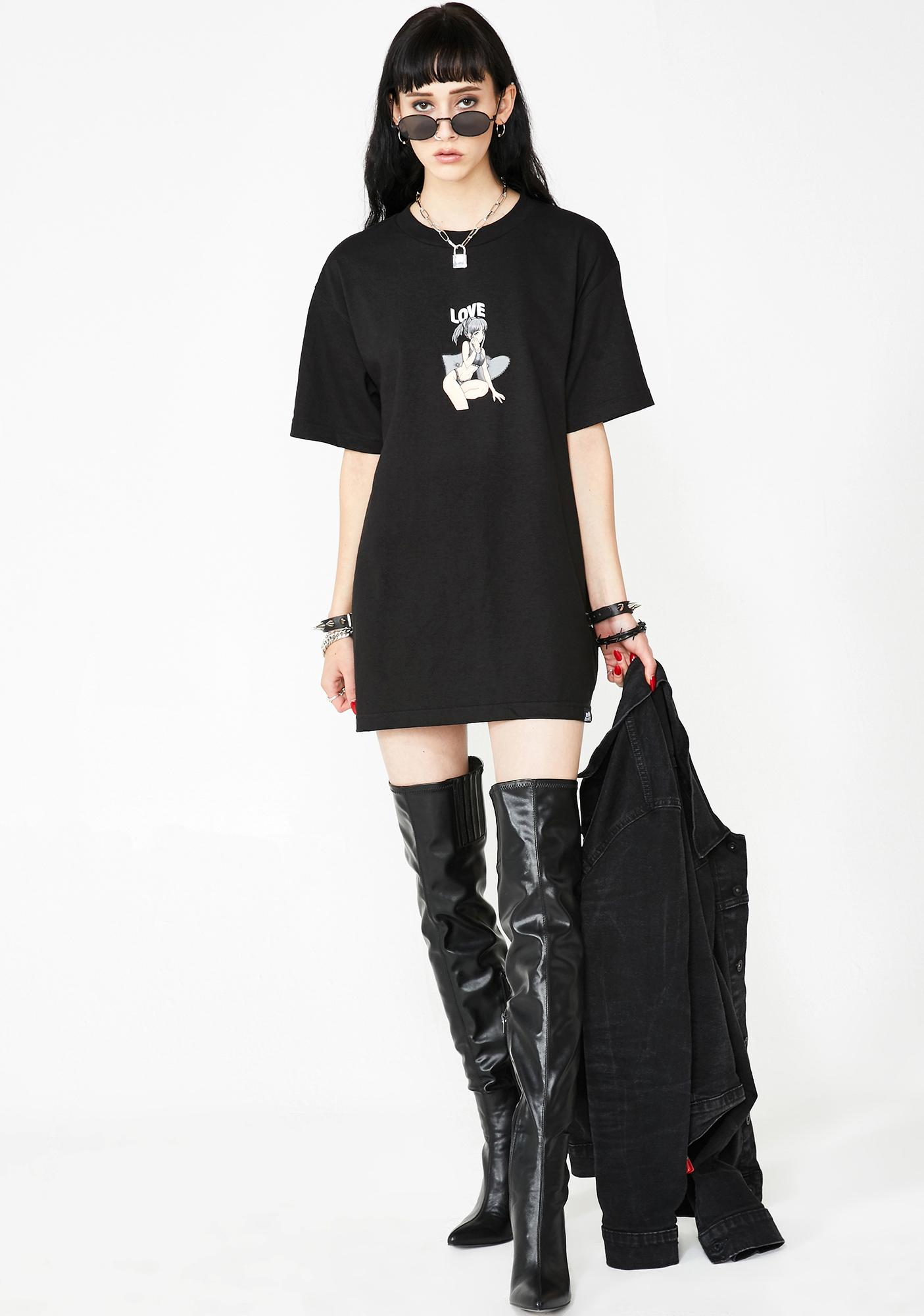 BROKEN PROMISES CO Love Anime Girl Tee