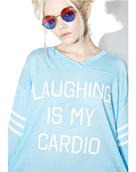 Laughing Is My Cardio Jersey Tunic