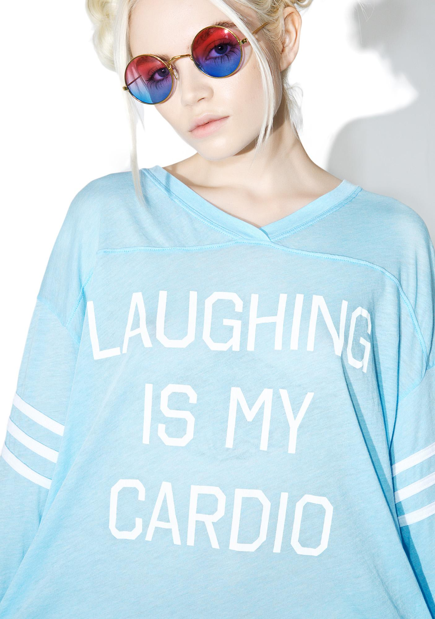 Wildfox Couture Laughing Is My Cardio Jersey Tunic