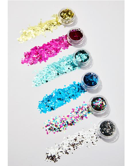 Tropical Cosmetic Face Glitter Set