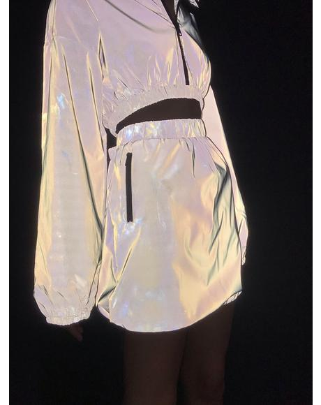 Modern Wave Reflective Skirt
