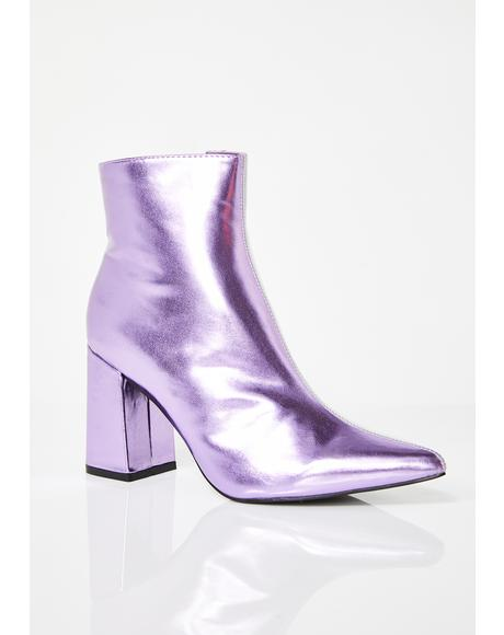 Amethyst Chaos Two-Tone Ankle Boots