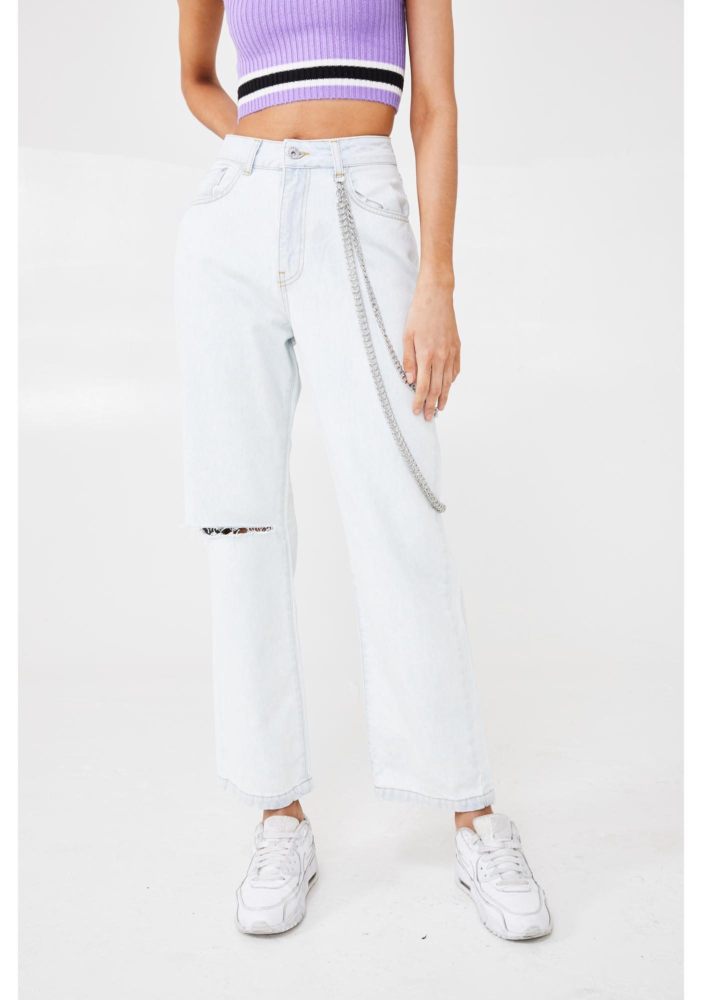 The Ragged Priest Stone Wash Dad Jeans