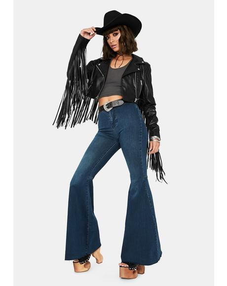 Just Float On Denim Flare Jeans
