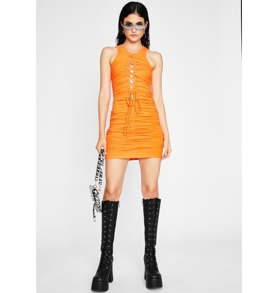 Bound N Beautiful Ruched Mini Dress