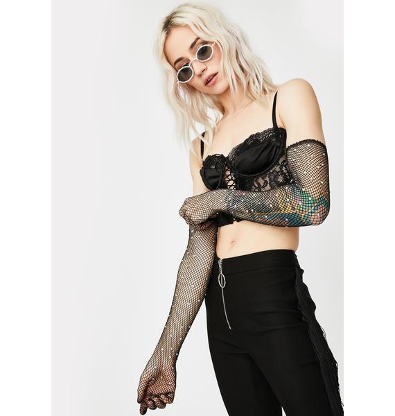 Lush Love Fishnet Gloves