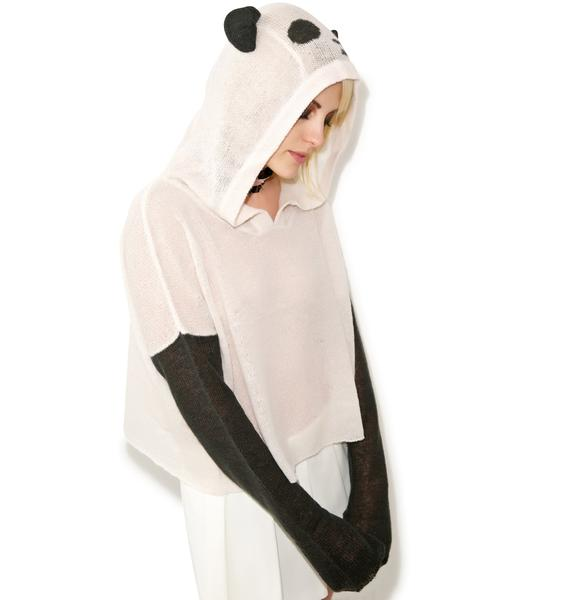 Wildfox Couture Panda Face Hooded Billy