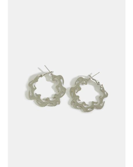 Turn It Up Mini Flame Hoop Earrings