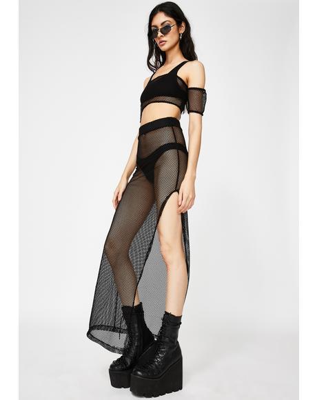 Rough Survival Maxi Skirt Set