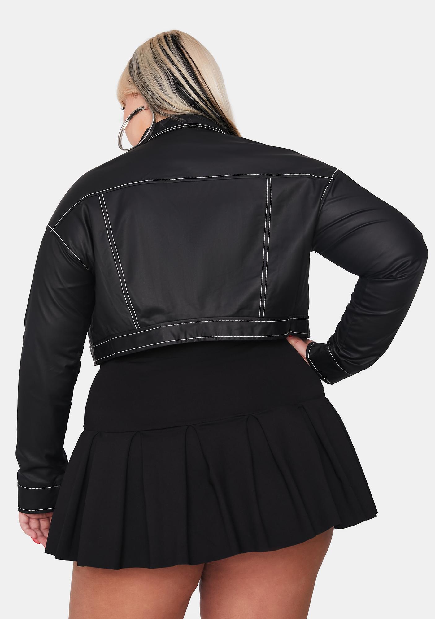 Poster Grl Luxe No Hard Feelingz Cropped Jacket