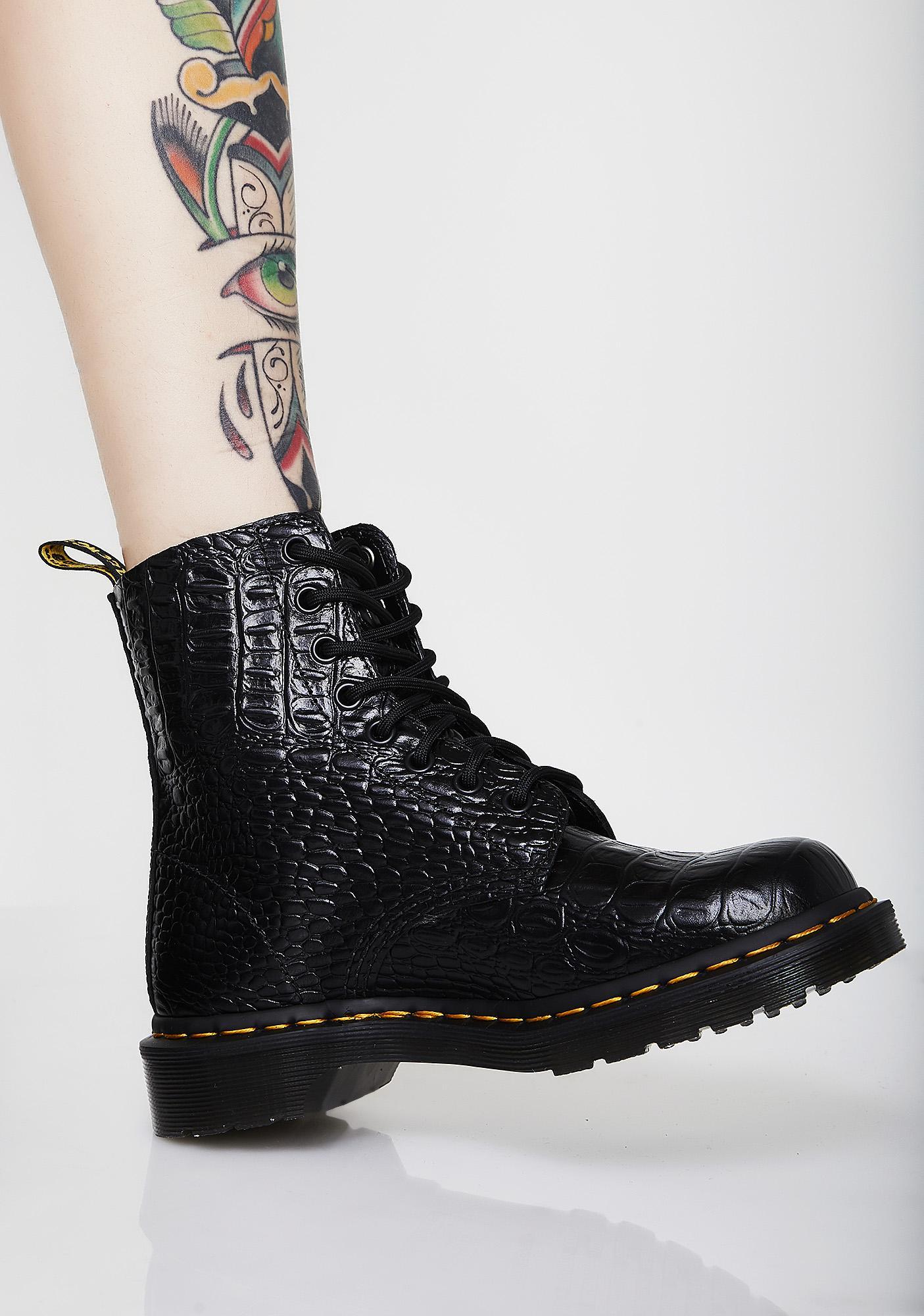 Dr. Martens Croc Pascal Boots