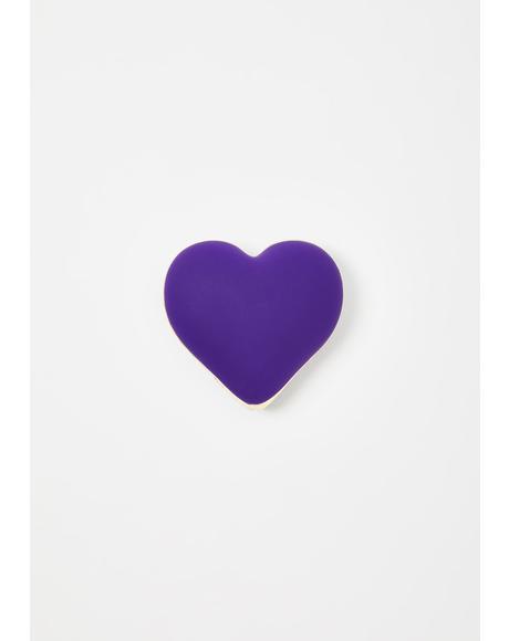Deep Purple Heart Vibe Vibrator
