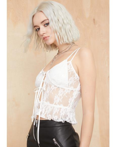 Lost In The Crowd Lace Cami