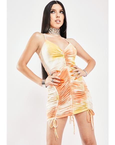 Outta Here Ruched Dress