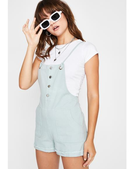 Retro Mood Denim Shortalls