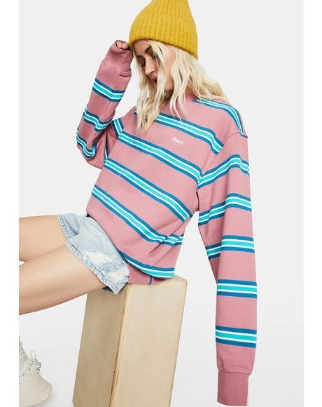 Ideals Organic Striped Crew Sweatshirt