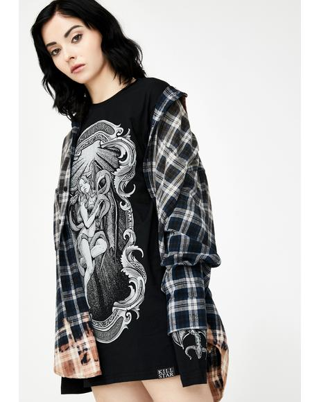 Goddess Long Sleeve Graphic Tee