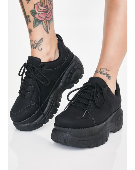Devious For The Weekend Platform Sneakers