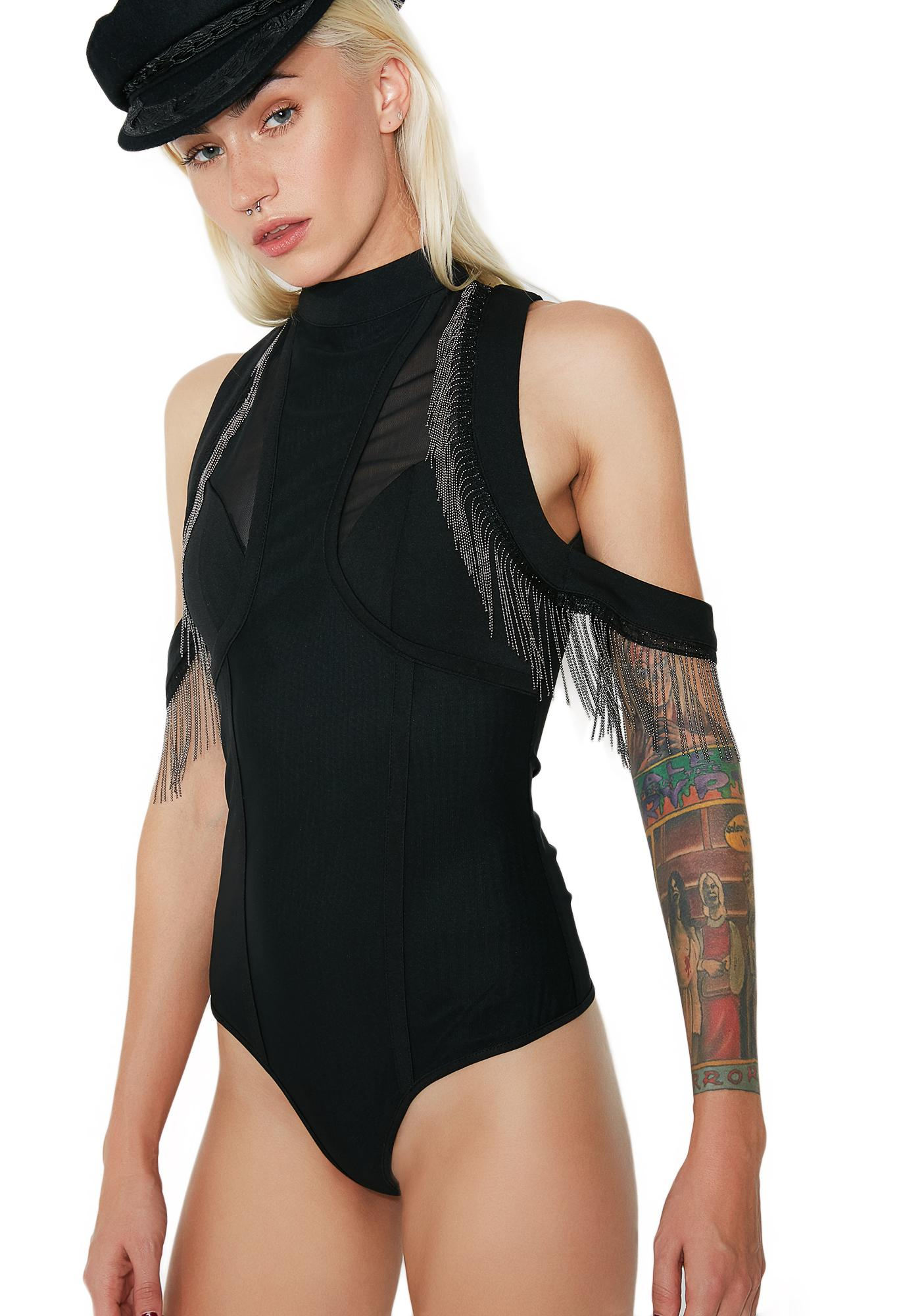 Hot Nights Fringe Bodysuit
